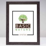Variante Schwarzbraun von Holz-Bilderrahmen Basic Nature Maßanfertigung