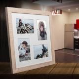 Variante hellbraun von Galerie-Bilderrahmen NARVIK für 4 Bilder