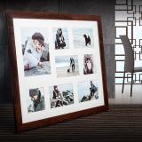 Thumbnail von Galerie-Bilderrahmen NARVIK für 8 Bilder dunkelbraun