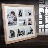 Variante hellbraun von Galerie-Bilderrahmen NARVIK für 8 Bilder