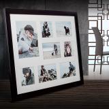 Variante schwarz von Galerie-Bilderrahmen NARVIK für 8 Bilder