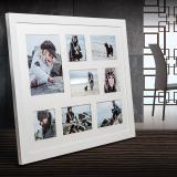 Variante weiß von Galerie-Bilderrahmen NARVIK für 8 Bilder