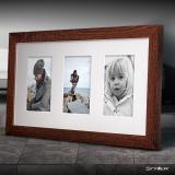 Variante dunkelbraun von Galerie-Bilderrahmen NARVIK für 3 Bilder