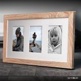 Variante hellbraun von Galerie-Bilderrahmen NARVIK für 3 Bilder