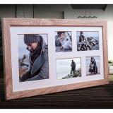 Thumbnail von Galerie-Bilderrahmen NARVIK für 5 Bilder hellbraun
