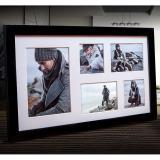 Variante schwarz von Galerie-Bilderrahmen NARVIK für 5 Bilder