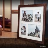 Variante dunkelbraun von Galerie-Bilderrahmen NARVIK für 4 Bilder