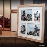 Thumbnail von Galerie-Bilderrahmen NARVIK für 4 Bilder hellbraun