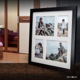 Variante schwarz von Galerie-Bilderrahmen NARVIK für 4 Bilder