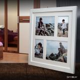 Variante weiß von Galerie-Bilderrahmen NARVIK für 4 Bilder