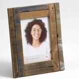 Variante blau-rosa von Portraitrahmen Dupla