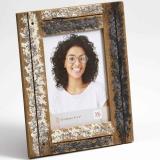 Variante creme-blau von Portraitrahmen Dupla