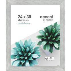 Bilderrahmen Alu-Bilderrahmen Star Silber matt 24x30 cm