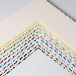 2,2 mm ColorCoreStripe Passepartout als Maßanfertigung