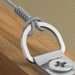 D-Ring Aufhänger für knotbares Stahlseil