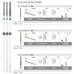 Galerieschiene Click Rail - All-in-one-Kit