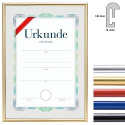 Bilderrahmen Kunststoffrahmen mit Urkunde, DIN A4