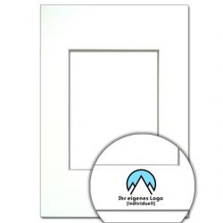 Bilderrahmen Passepartout mit Logo