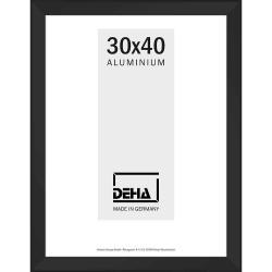 Bilderrahmen Distanz-Alurahmen Spika XL Sonderzuschnitt Schwarz matt