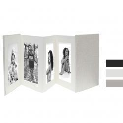 Bilderrahmen Leporello aus Leder für 8 Bilder