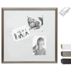 Bilderrahmen Magnetwand mit 10 weißen Magneten