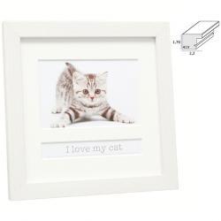Fotorahmen mit Textfach I love my cat