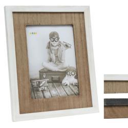 Bilderrahmen Fotorahmen mit Holzpassepartout