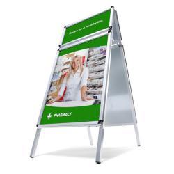 Bilderrahmen Kundenstopper mit Toprahmen 32 mm
