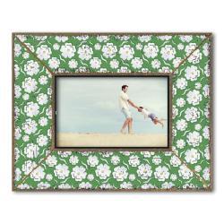Dekolino White Blossom on Green