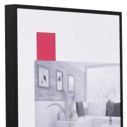 Bilderrahmen Aluminium-Bilderrahmen Quadro XL Maßanfertigung schwarz matt