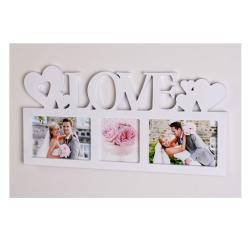 """Symbol Galerierahmen """"Love"""" für 3 Fotos"""