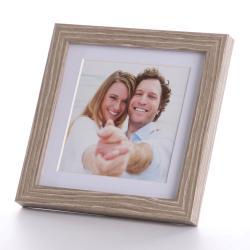Bilderrahmen Portraitrahmen mit Passepartout 10x10 cm (13x13 cm)