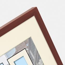 Bilderrahmen Kunststoff-Bilderrahmen Puro mit Passepartout braun