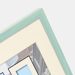 Kunststoff-Bilderrahmen Puro mit Passepartout mint
