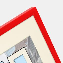 Bilderrahmen Kunststoff-Bilderrahmen Puro mit Passepartout rot