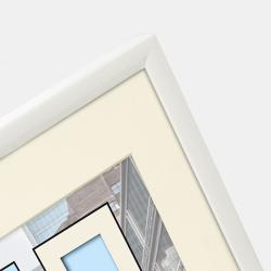 Bilderrahmen Kunststoff-Bilderrahmen Puro mit Passepartout weiß