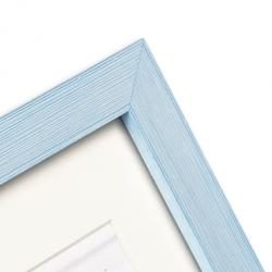 Bilderrahmen Kunststoff-Bilderrahmen Cosea mit Passepartout hellblau