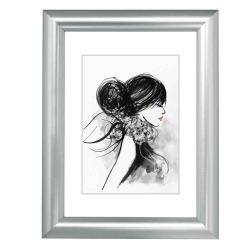Bilderrahmen Kunststoff-Bilderrahmen Sofia Silber