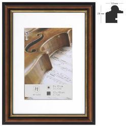 Bilderrahmen Holz-Bilderrahmen Verona mit Passepartout