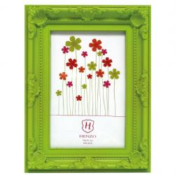 Bilderrahmen Kunststoff-Bilderrahmen Barock Colour Grün