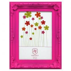 Bilderrahmen Kunststoff-Bilderrahmen Barock Colour Pink