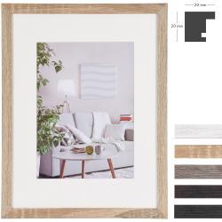 MDF-Holz-Bilderrahmen Modern mit Passepartout