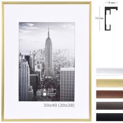 Bilderrahmen Alurahmen Manhattan mit Passepartout