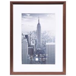 Bilderrahmen Alurahmen Manhattan mit Passepartout bronze