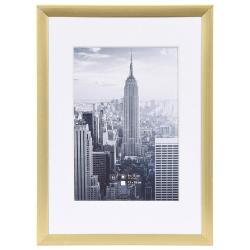 Bilderrahmen Alurahmen Manhattan mit Passepartout gold