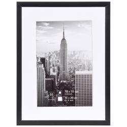 Bilderrahmen Alurahmen Manhattan mit Passepartout schwarz