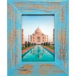 Bilderrahmen Holz-Bilderrahmen India Blau