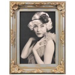 Bilderrahmen Kunststoff-Bilderrahmen Antique Barock Silber