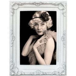 Bilderrahmen Kunststoff-Bilderrahmen Antique Barock Weiß