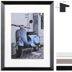 Bilderrahmen Holz-Bilderrahmen Umbria mit Passepartout